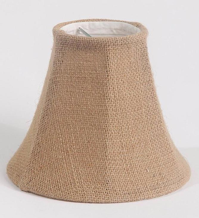 Burlap bell 6 inch chandelier lamp shade 5 colors urbanest burlap bell 6 inch chandelier lamp shade 5 colors aloadofball Choice Image