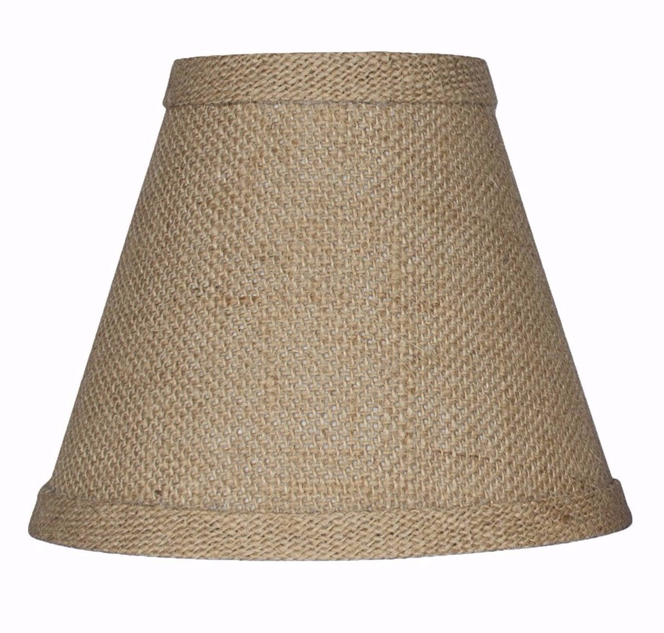 "Burlap Chandelier Lamp Shade - 5"" & 6"" Sizes"