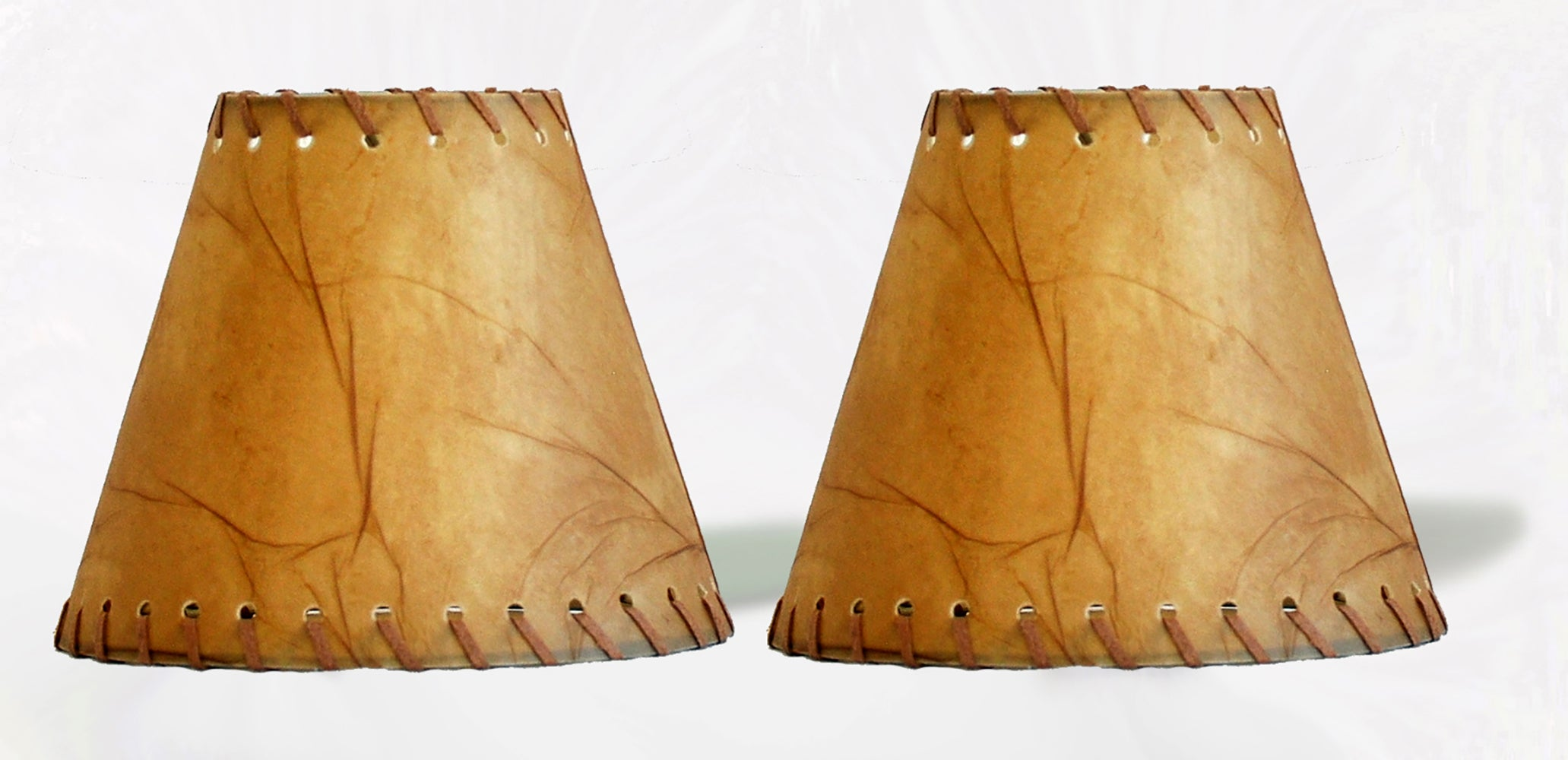 Faux Leather 6-inch Chandelier Lamp Shade with Trim