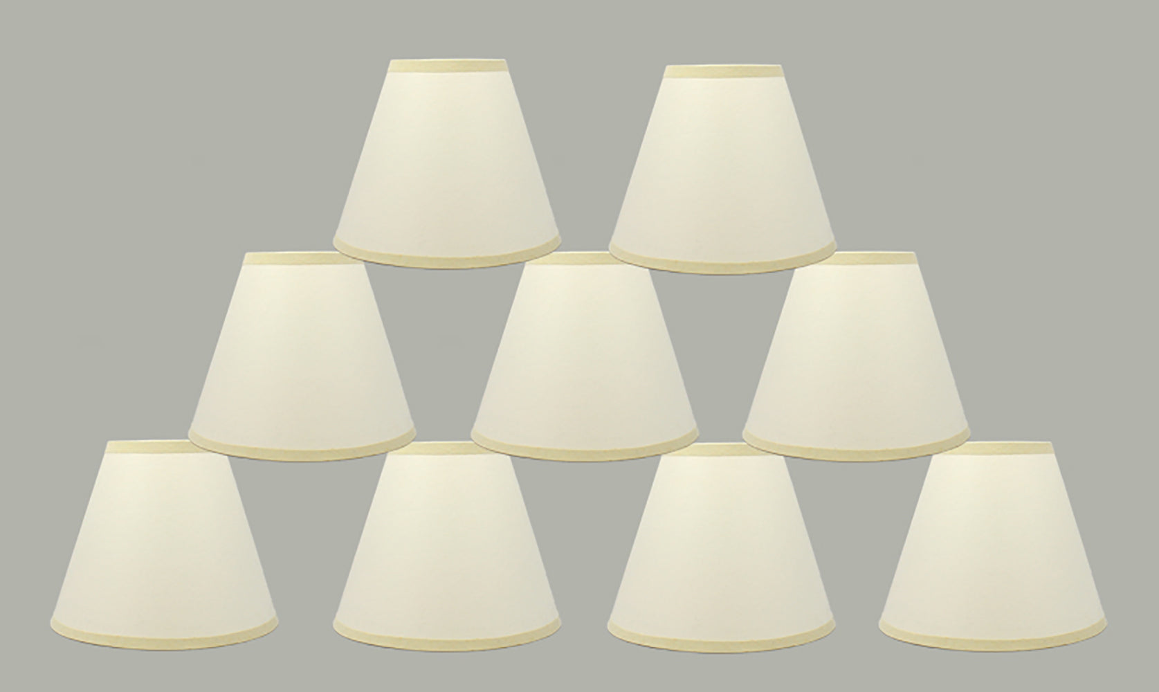 Craft Paper 6-inch Chandelier Lamp Shade - Eggshell