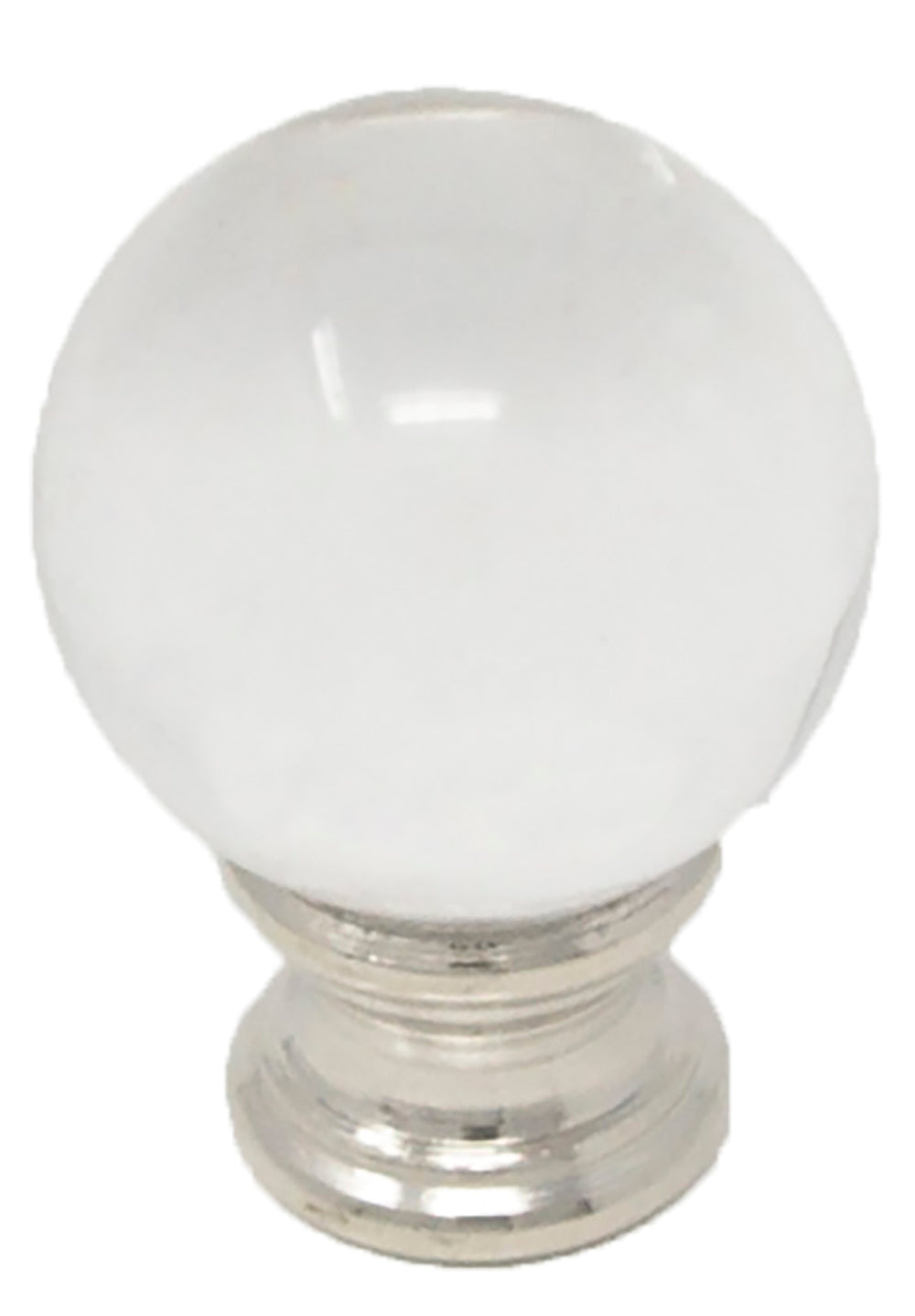 Crystal Ball Lamp Finial For Lamp Shades 1 5 8 Inch