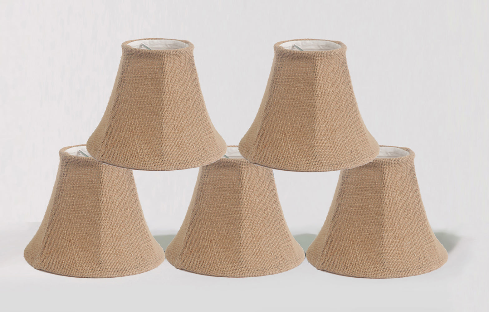 Burlap bell 6 inch chandelier lamp shade 5 colors urbanest burlap bell 6 inch chandelier lamp shade 5 colors arubaitofo Choice Image