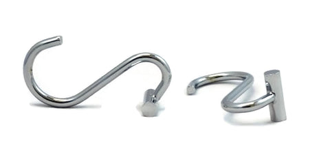 Solid Metal Shower Curtain Hooks, Set of 12, Chrome