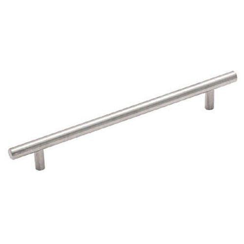 "Satin Nickel Cabinet Hardware Bar Handle Pull - 5"" (128mm)Hole Centers, 7-3/4""(200mm)Overall Length"