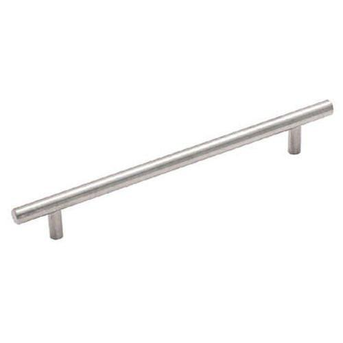 "Satin Nickel Cabinet Hardware Bar Handle Pull - 6-5/16"" (160mm)Hole Centers, 9-7/8"" (250mm)Overall Length"