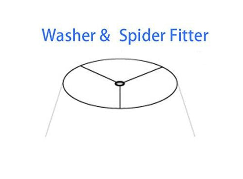 Softback Bell Lampshade, Faux Silk, 14-inch, Spider-fitter