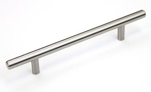 "Satin Nickel Cabinet Hardware Bar Handle Pull - 7-9/16"" (192mm)hole Centers, 11-7/8"" (300mm)overall Length"
