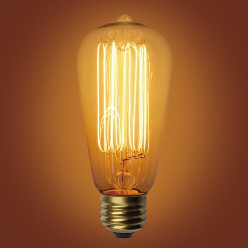 Urbanest Squirrel Cage Type Vintage Edison Bulb, E26 Medium Base, 60 Watt