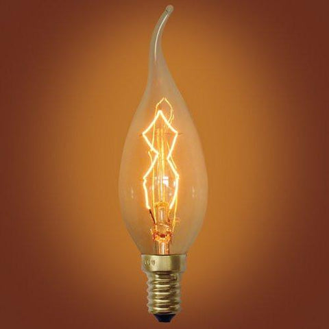 E12 Spiral Loop 40 Watt Edison Vintage Light Bulb
