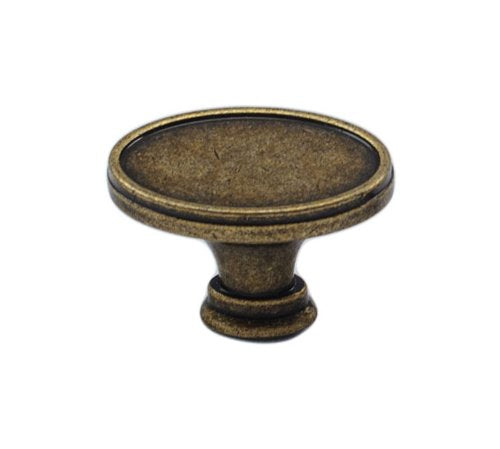 Fleetwood Oval Cabinet Hardware Knob - 4 Finishes