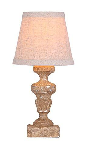Gaston Mini Accent Lamp, Faux Stone Finish with Silver Highlights