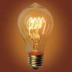 Quad-Loop A19 Vintage Edison Bulb, E26 Medium Base, 60 Watt