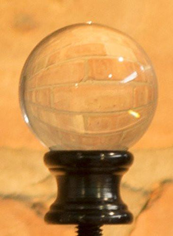 Crystal Ball Lamp Finial For Lamp Shades, 1-5/8-inch