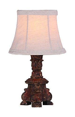 Lumiere Mini Accent Lamp, Black Finish with Gold and Burnt Sienna Highlights