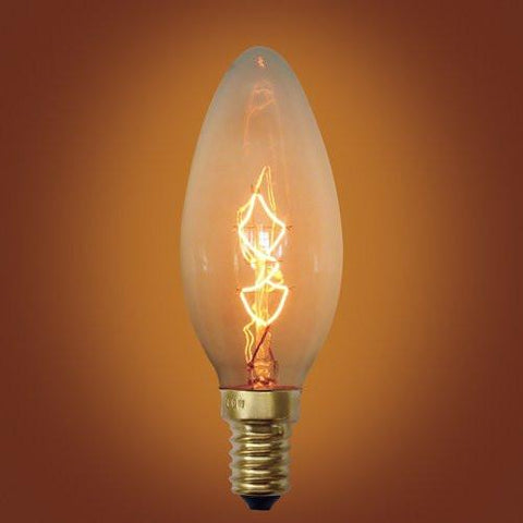 Spiral Loop Incandescents Vintage Edison Bulb, E12 Candelabra Base, 25 Watt