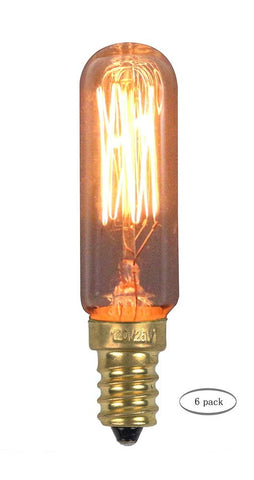 Urbanest T20 Squirrel Cage Edison Bulb, 3-inch Long, 25 Watt, E12 Base