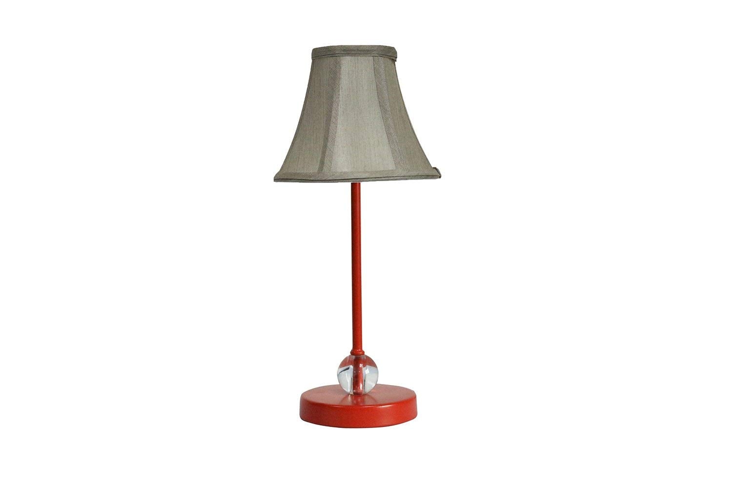 Chelsea Mini Accent Lamp with Champagne Silk Bell Lamp Shade