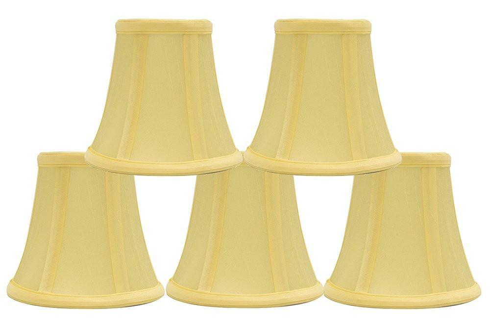 Silk 5-inch Bell Chandelier Lamp Shade - 9 Colors