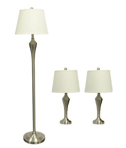 Lincoln 3-piece Table and Floor Lamp Set