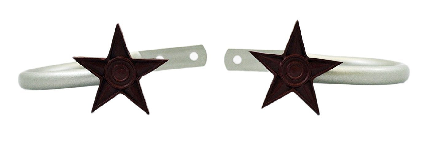 Star Drapery Holdbacks - 2 Finishes