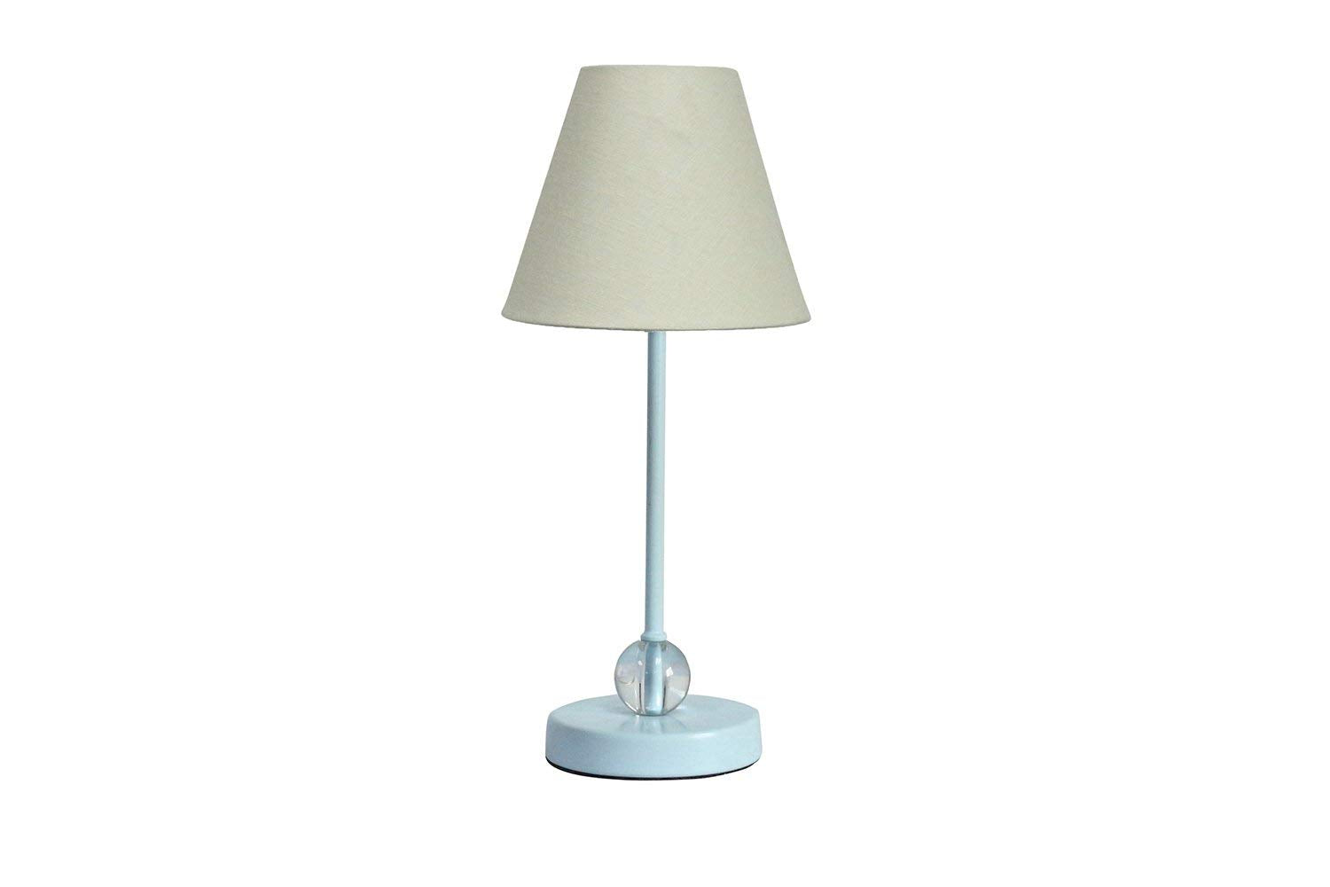 Chelsea Mini Accent Lamp with Eggshell Linen Lamp Shade