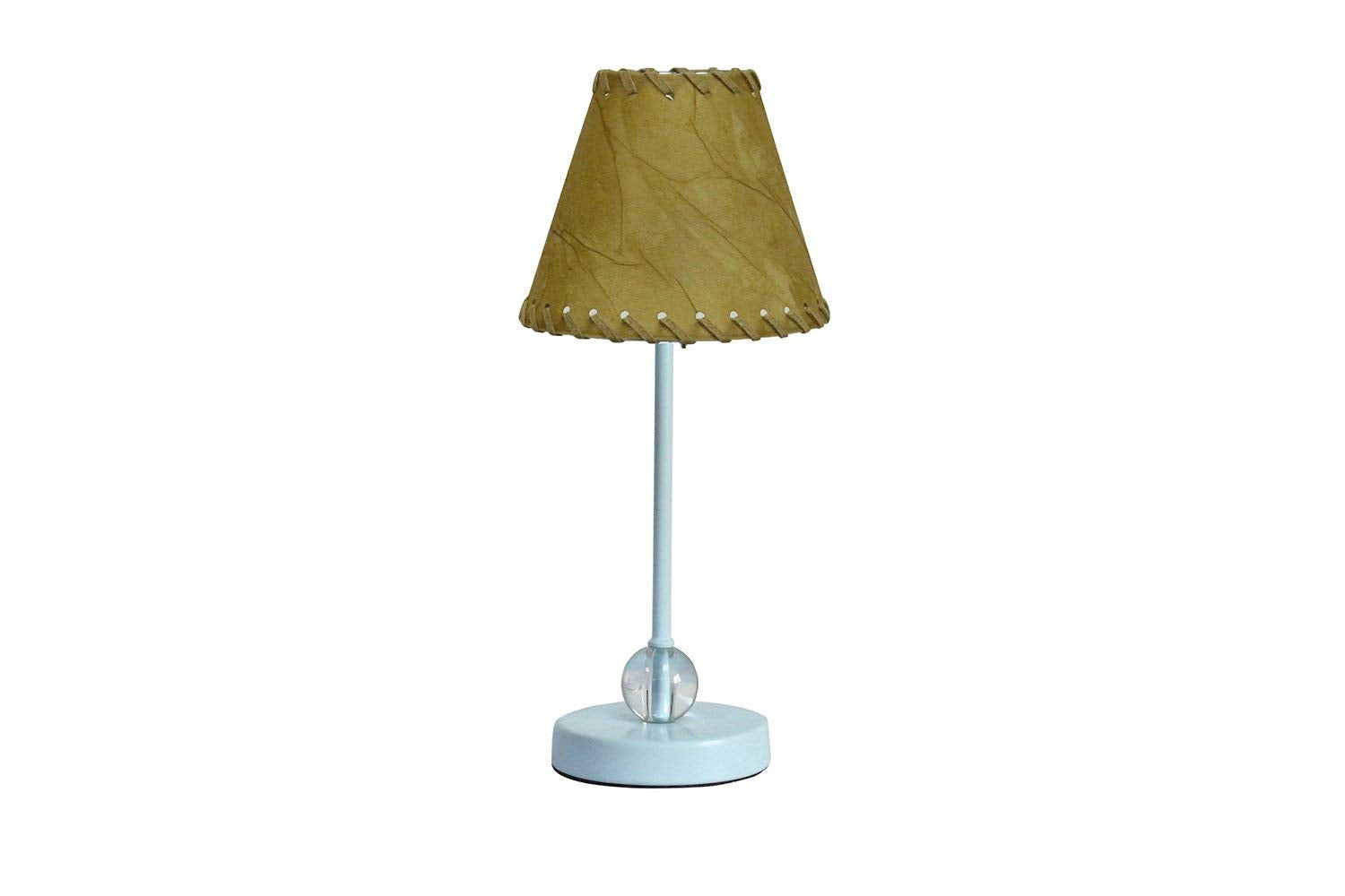 Chelsea Mini Accent Lamp with Faux Leather with Trim Lamp Shade