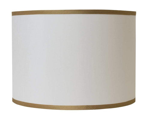 Faux Silk Classic Drum Lampshade with Gold Trim