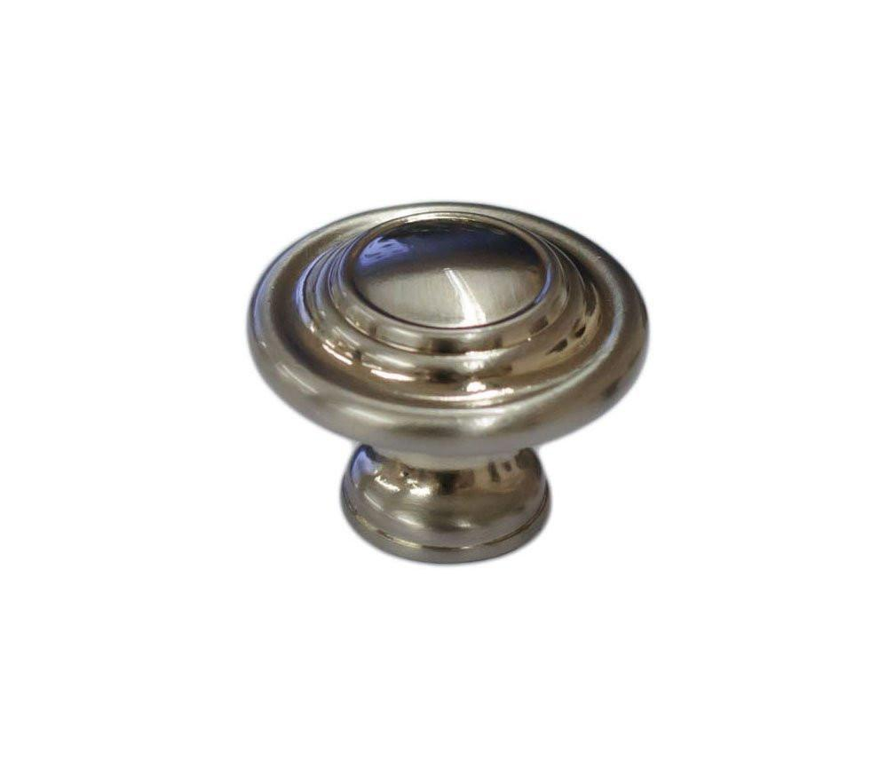 Cranfield Round Cabinet Hardware Knob 1-5/16 Inch Diameter - 4 Finishes