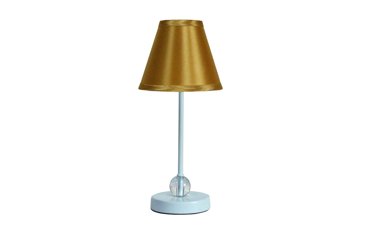 Chelsea Mini Accent Lamp with Gold Satin Lamp Shade