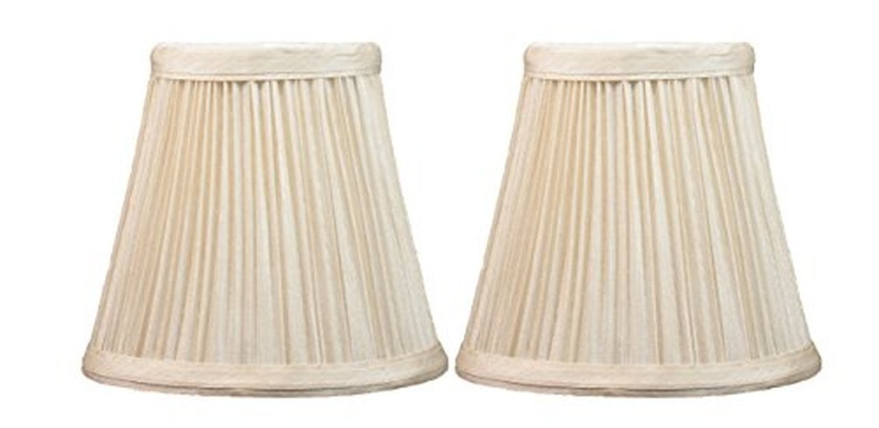 Mushroom Pleated 5 Inch Chandelier Lamp Shade 6 Colors