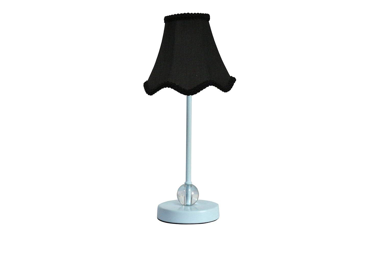 Chelsea Mini Accent Lamp with Black Scalloped Lamp Shade