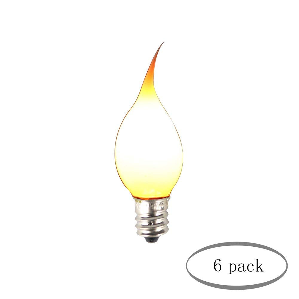 Urbanest Silicone Decorative Mini Torpedo Light Bulbs, 3 Watt, 1-inch Diameter, 2 3/4-inch Length