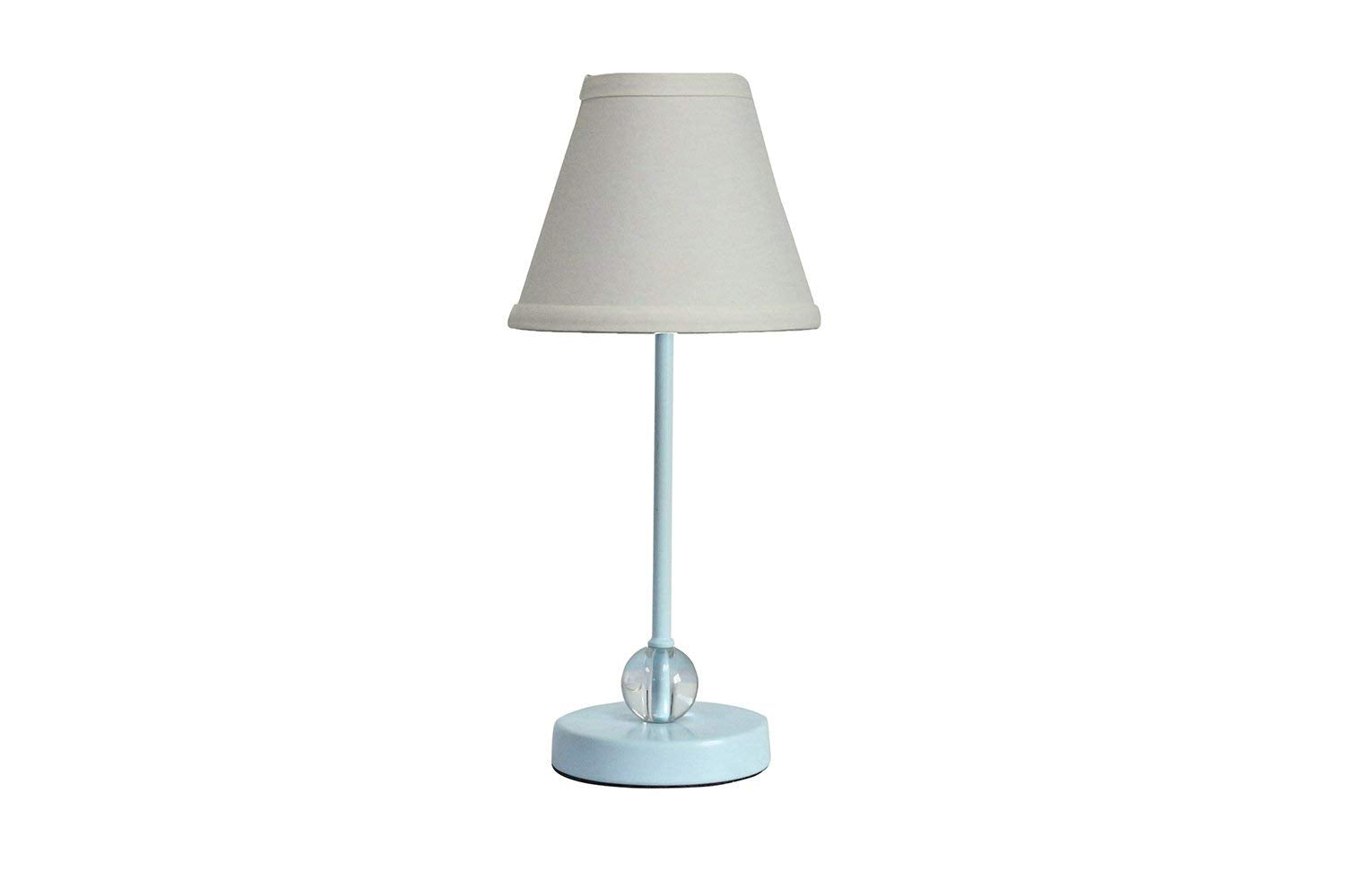 Chelsea Mini Accent Lamp with White Cotton Lamp Shade