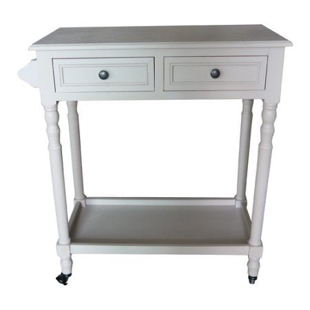 Hampton Bar Cart with Shelf and Wheels - 5 Finishes