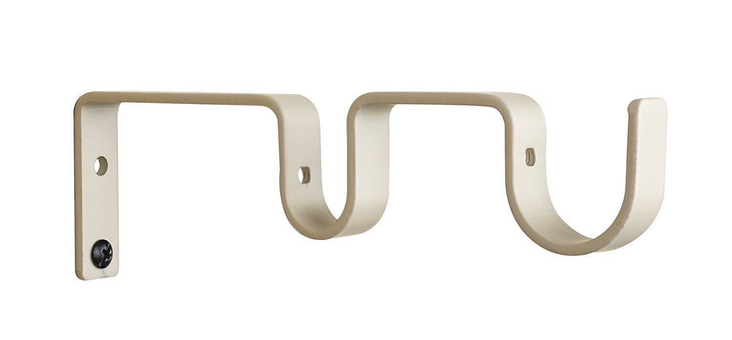 "Double Curtain Rod Bracket for 1"" and 3/4"" Rod"