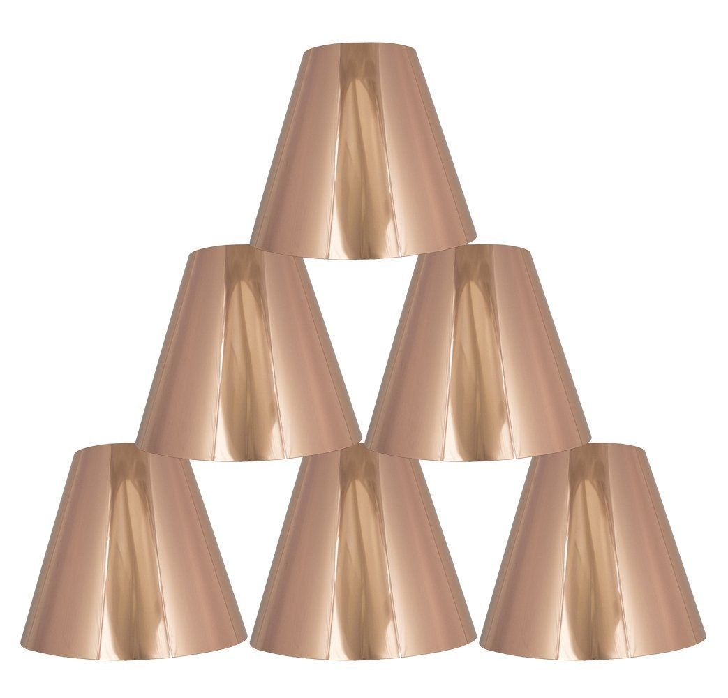 Metallic 6-inch Hardback Chandelier Lamp Shade - 3 Colors