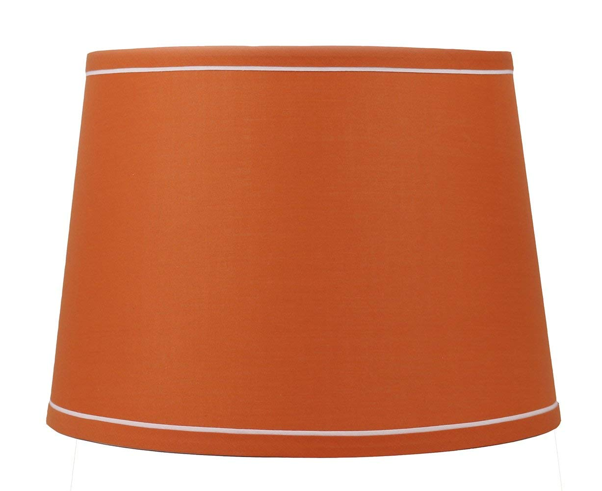 "French Drum With White Trim, 12"" Lampshade"
