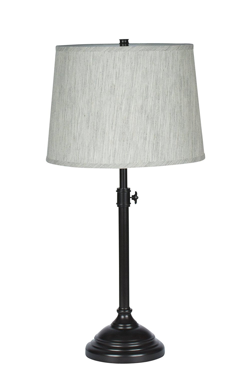 Bon Windsor Adjustable Table Lamp, Oil Rubbed Bronze Finish Lamp Base With Gray  Tone Natural