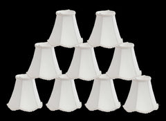 Silk Scallop 6-inch Chandelier Lamp Shade - 3 Colors