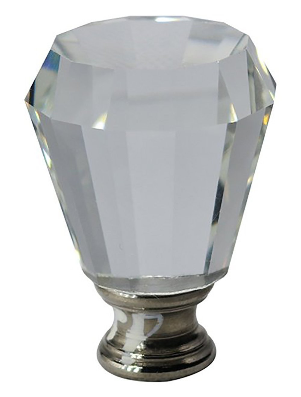 Crystal Anne Lamp Finial - 2 Finishes