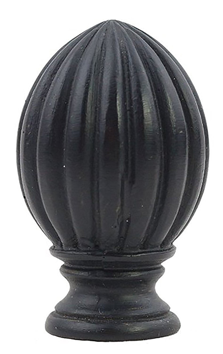 Fluted Lamp Finial - 2 Finishes