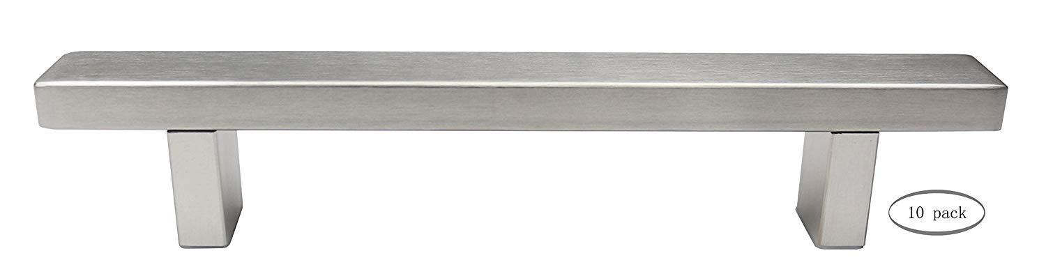 Urbanest Set of 10 Cabinet Pulls, Brushed Satin Nickel