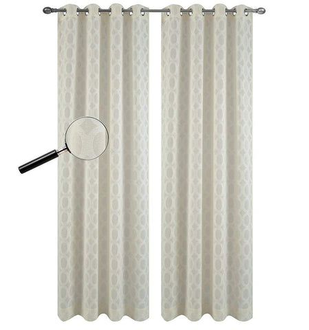 Urbanest Set of 2 Napa Sheer Curtain Drapery Panels with Grommets