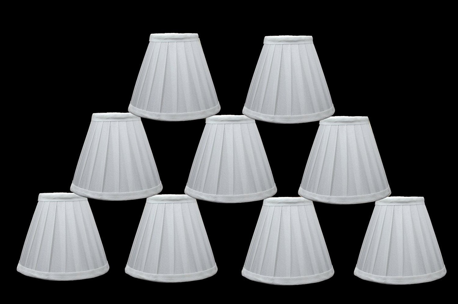 Side Pleat 6-inch Chandelier Lamp Shades - 2 Colors