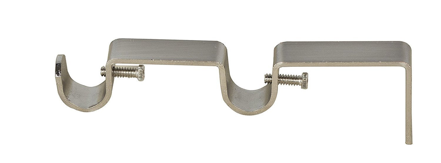 double curtain rod bracket 12inch to 58inch