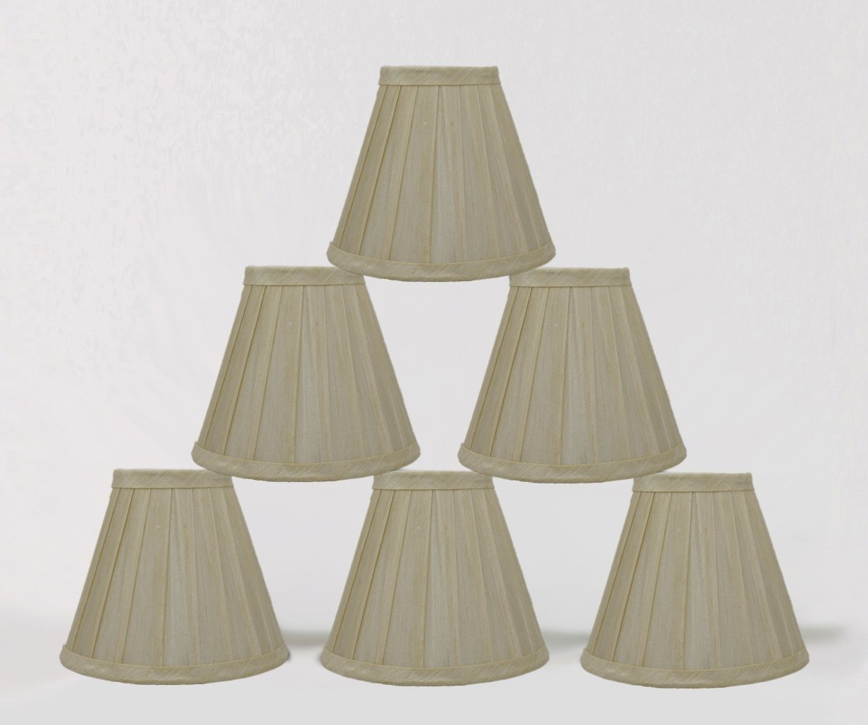 Side Pleat 6-inch Chandelier Lamp Shades - 2 Colors – urbanest