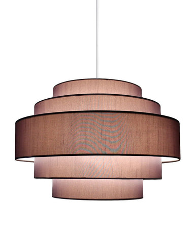 Palladio 5-tier Shade Pendant with Hanging Light Kit, 18-inch Diameter, 12-inch tall