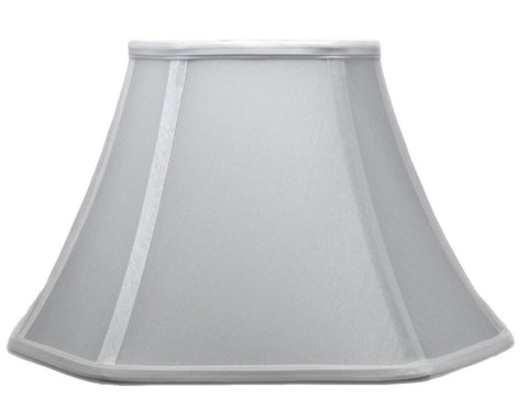 Square Cut Corner Bell Lamp Shade, 12-inch, Off White, Softback (Spider)
