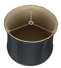 Faux Silk Softback Drum 14-inch  Lamp Shade - 6 Colors