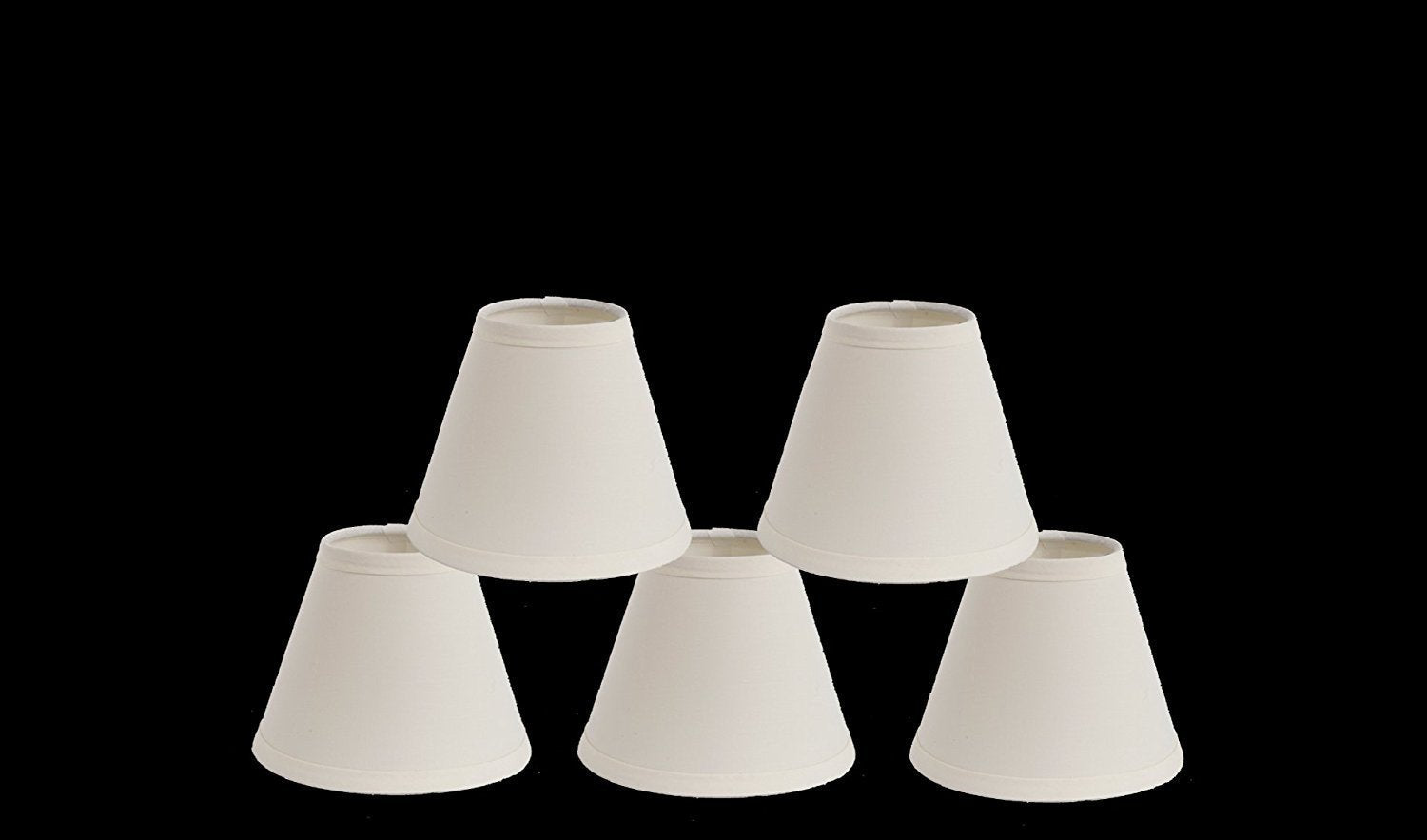 Cotton 6-inch Chandelier Lamp Shade - 4 Colors